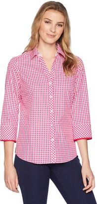 Foxcroft Women's Mary Gingham Non Iron Shirt