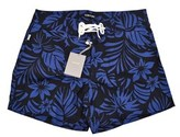 Tom Ford Men's Blue Floral Print Swim Trunks.