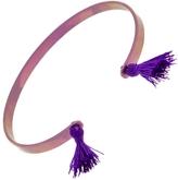 EYE M by Ileana Makri Pink Titan Cuff Bracelet - Purple Tassels