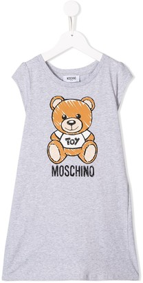 MOSCHINO BAMBINO bear logo print T-shirt dress