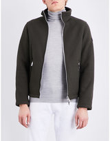 Armani Jeans Zip-up Twill Harrington Jacket