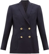 Officine Generale Mathilde Double-breasted Fresco-wool Suit Jacket - Womens - Navy