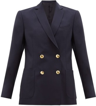 Officine Generale Mathilde Double-breasted Fresco-wool Suit Jacket - Navy