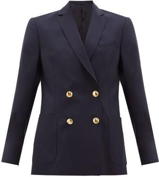 Officine Generale Mathilde Double-breasted Fresco-wool Suit Jacket - Womens - Navy