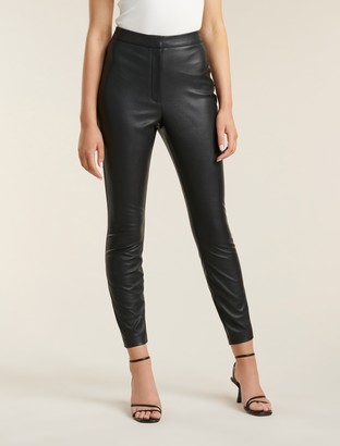 Forever New Kiara PU Pants - Black - 10