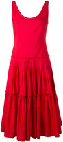 Alberta Ferretti sleeveless mid-length dress - women - Cotton - 40