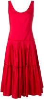 Alberta Ferretti sleeveless mid-length dress - women - Cotton - 42