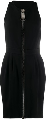 Moschino Oversized Zipper Mini Dress