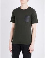 The Kooples Patch Pocket Cotton T-shirt