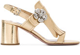 Prada floral studs sandals - women - Leather - 35