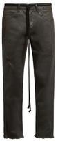 Off-White Frayed mid-rise cropped jeans