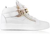 Giuseppe Zanotti White Leather High Top Men's Sneaker