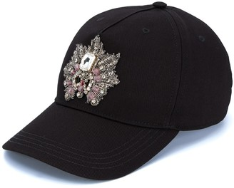 Alexander McQueen embellished patch baseball cap
