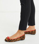 Simply Be Extra Wide Fit leopard print ballet pump