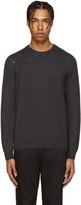 Saint Laurent Grey Grunge Destroyed Sweater