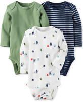 Carter's 3-Pk. Monster Cotton Bodysuits, Baby Boys