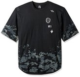 Southpole Men's Big and Tall Bt Short Sleeve Crew Neck Scallop Tee with Patch and Prints