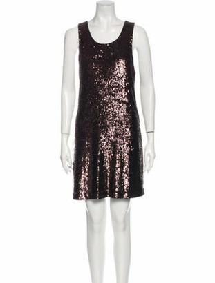 Tory Burch Scoop Neck Mini Dress w/ Tags Brown