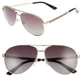 Gucci Women's 61Mm Polarized Aviator Sunglasses - Gold/ Brown Polar