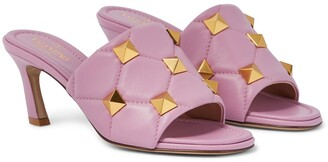 Valentino Roman Stud quilted leather sandals