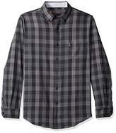 Ben Sherman Men's LS TXTRED Plaid Shirt