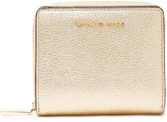 MICHAEL Michael Kors Metallic Pebbled-leather Wallet