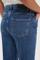 Boutique Mid wash wide leg crop jeans