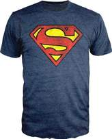 Bioworld Superman Logo Shield Heathered T-Shirt