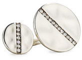 Ippolita Sterling Silver Open Double-Disc Ring with Diamonds
