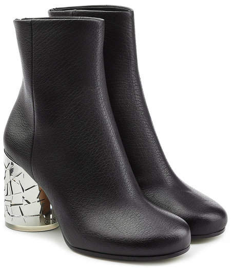 Maison Margiela Leather Ankle Boots with Statement Heel