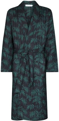 Desmond & Dempsey Byron quilted tropical-print robe