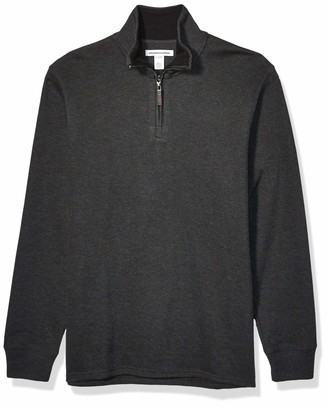 Amazon Essentials Quarter-Zip French Rib Sweater Charcoal Heather XS