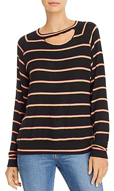 LnA Zora Cutout Striped Sweater