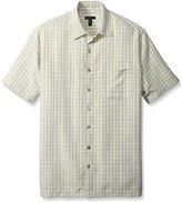 Van Heusen Men's Big & Tall Short Sleeve Rayon Poly Plaid Shirt