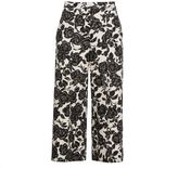 MSGM Floral Print Cropped Trousers