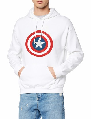 Marvel Men's Avengers Captain America Distressed Shield Hoodie