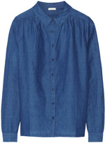 Linen and cotton-blend chambray shirt