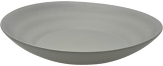 Ten Strawberry Street Set Of Six 9.75In Ripple Grey Pasta Plates