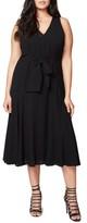 Rachel Roy Plus Size Women's Claudette Tie Front Midi Dress