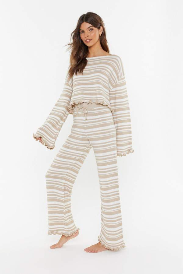 770e88c5bb Jump Into Bed Striped Jumper and Joggers Lounge Set