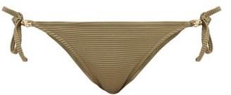Heidi Klein Venice Pintuck-pleated Side-tie Bikini Briefs - Khaki