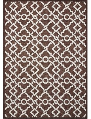 "Waverly Treasures ""Artistic Twist"" Darjeeling Tea Area Rug Rug Size: Rectangle 5' x 7'"