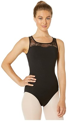 Bloch Button Back Tank Leotard (Black) Women's Jumpsuit & Rompers One Piece