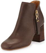 See by Chloe Jamie Side-Zip Ankle Boot, Dark Brown