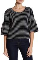 Caslon 3/4 Bell Sleeve Striped Blouse