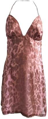 Jacques Fath Pink Silk Dress for Women Vintage