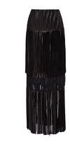 Sonia Rykiel Long Fringed Leather Skirt