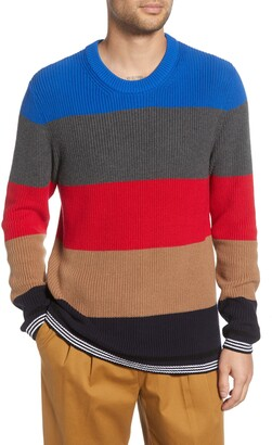 French Connection Stripe Regular Fit Cotton Sweater