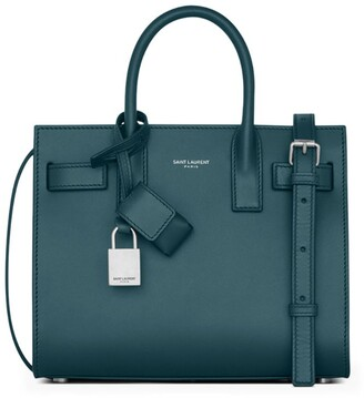 Saint Laurent Nano Leather Sac De Jour Tote Bag