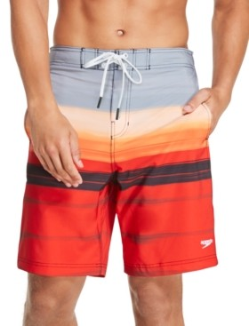 "Speedo Men's Bondi Ombre Gradient Stripe 2-Way Stretch Upf 50+ 20"" Board Shorts"